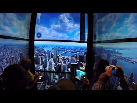 Ascensor One World Trade Center, subiendo