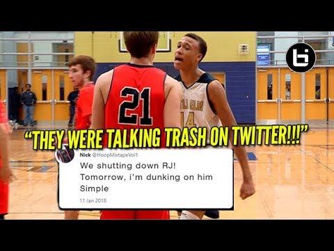 THEY WERE TALKING TRASH ON TWITTER! RJ Hampton Game Got Heat