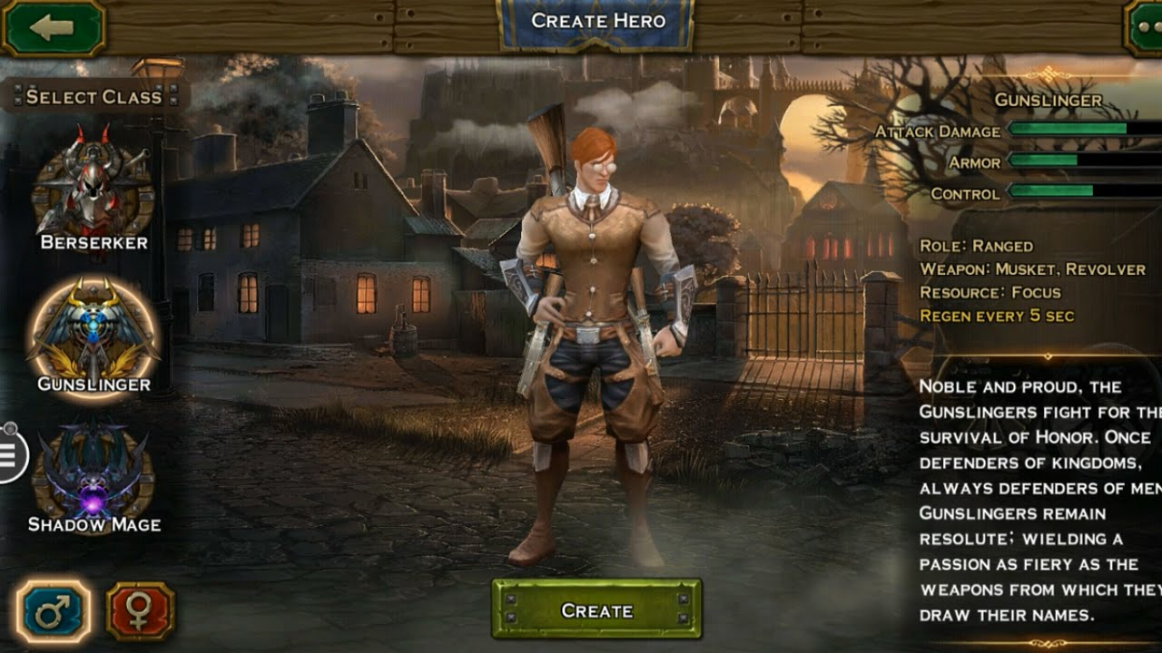 angel stone gameplay (gunslinger) ios / android