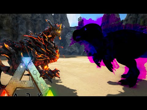 Ark Survival Evolved - DRAGON GOD vs WARDEN DODO SATAN (Ark Gameplay)