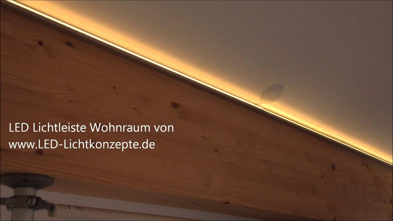 LED Lichtleiste Wohnzimmer Lichtinstallation mit LED Stripes m ...