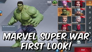 Marvel Super War First Look! - New Marvel MOBA 2019 - Free To Play Mobile Game