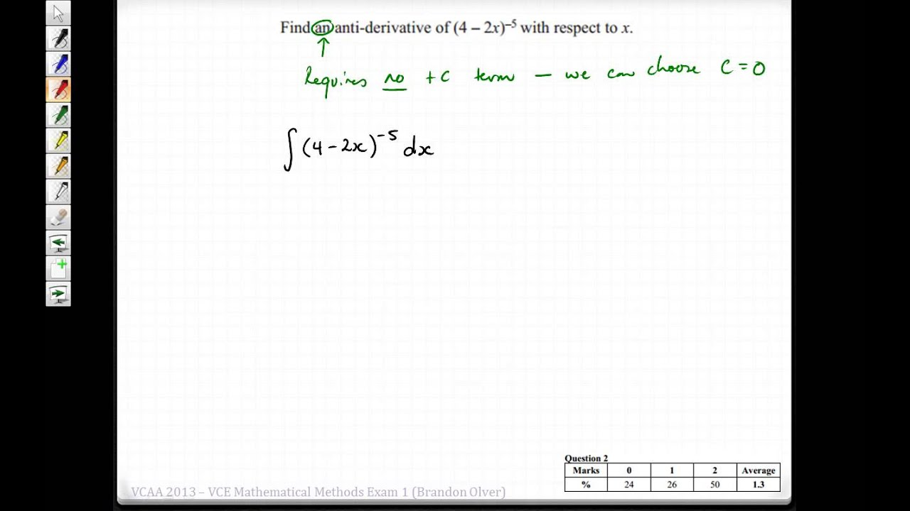 Maths methods 2013 exam 2