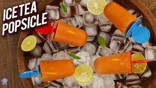 Homemade Lemon Iced Tea Popsicles - Summer Special Drinks - How To Make Ice Tea Popsicles - Bhumika