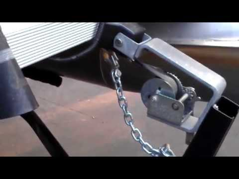 Safety chains on boat