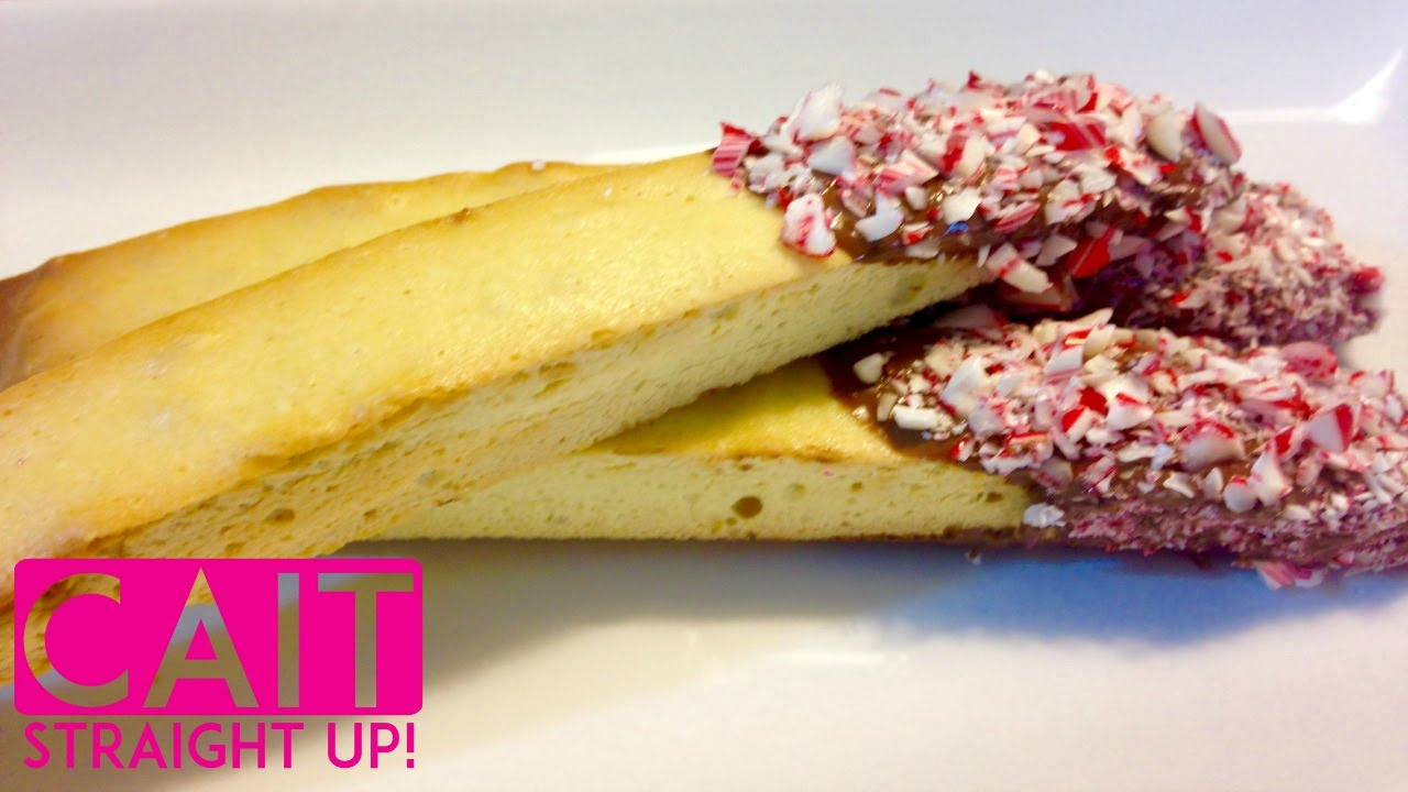 Homemade Biscotti Dipped In Chocolate Candy Cane Cait Straight Up