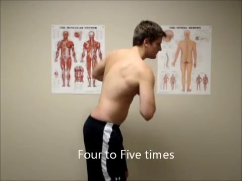 Standing trunk rotation exercise