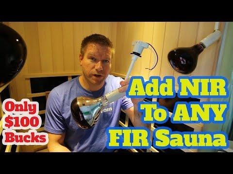 How To Add Near Infrared To ANY Far Infrared Sauna (for $100 bucks) - NIR FIR Sauna Hack