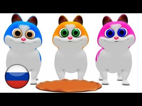 Три котёнка    детские стишки   Детские песни   мультфильмы для детей   Little Treehouse