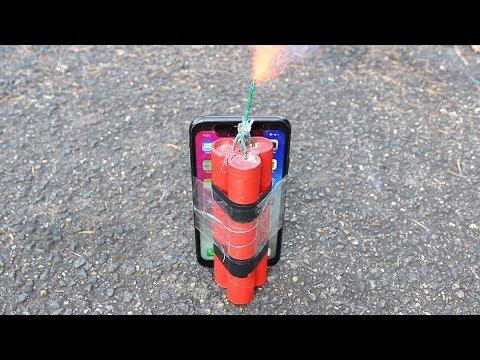 EXPERIMENT iPhone X vs Firecracker