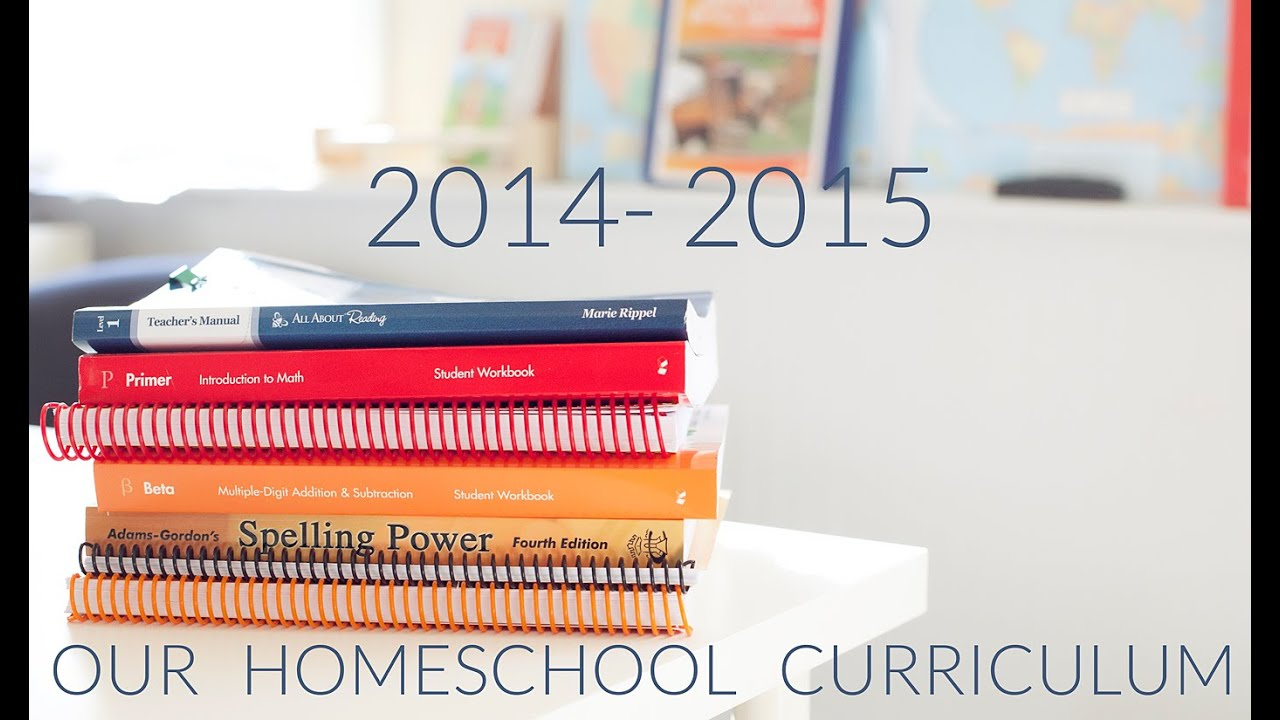 Homeschool Curriculum 2014-2015 - YouTube