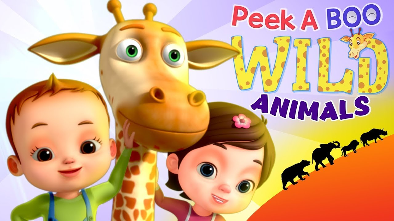 Peek A Boo Song - Learn Wild Animals | Videogyan 3D Rhymes | Kids Songs & Videos For Babies
