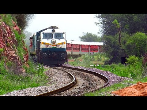Dangerous Curves | Diesel Trains negotiate curves at high speed | Indian Railway