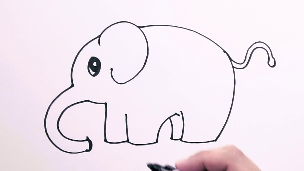 How To Draw An Elephant Draw Easy Freehand Easy To Follow