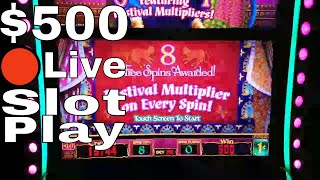 🔴Live Streaming From San Manuel Casino! $500 Slot Play Buffalo Gold,Timber Wolf,Brazil, 5 Dragons
