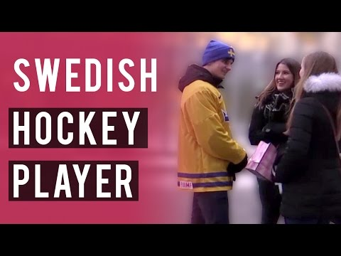 Swedish Hockey Player Picks Up Girls