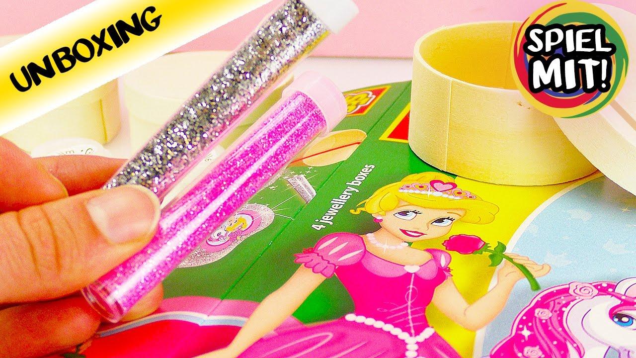 pink glitter dreams schmuckaufbewahrung selber machen mit glitzer und prinzessin diy set. Black Bedroom Furniture Sets. Home Design Ideas