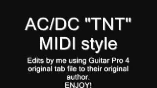 "AC/DC ""TNT"" MIDI style"