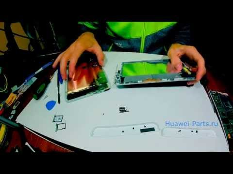 как разобрать Huawei Mediapad X1 ремонт (How to disassemble/Cambiar pantalla)