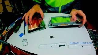как разобрать Huawei Mediapad X1 ремонт (How to disassemble/Cambiar pantalla)