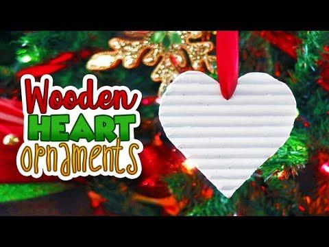 DIY Wooden Heart Ornaments // Annie Sloan's Chalk Paint // Christmas Christmas 2018