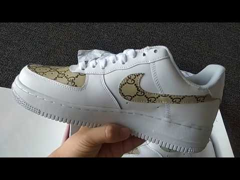 Unboxing Air Force 1 Low Sportswear Sneakers Blue Recall White