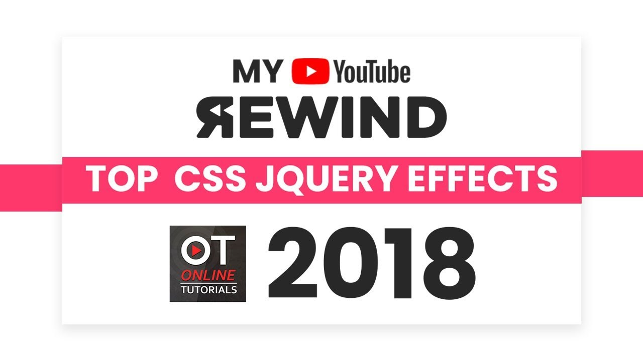 Top CSS and jQuery Animation and Hover Effects