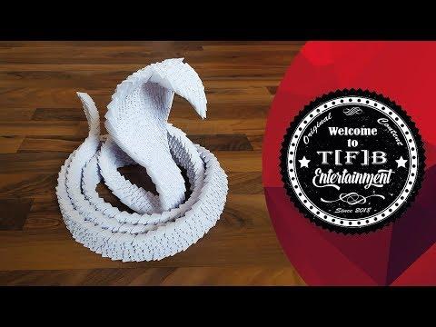 Creative Tutorials: 3D Origami Snake