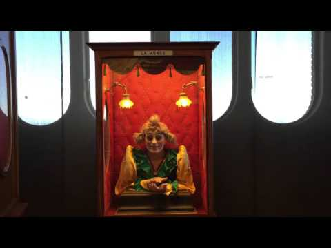 The creepy top knot lady at Barcelona's Automata museum
