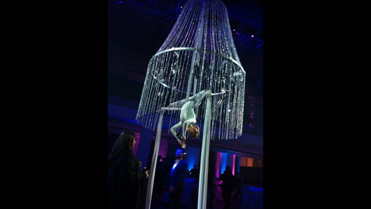 Aerial Chandelier Bar by Flying Arrow Productions - YouTube