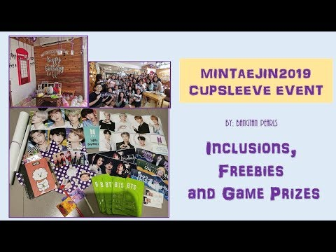 MinTaeJin2019 Cupsleeve By Bangtan Pearls -  Event Inclusions, Freebies And Game Prizes