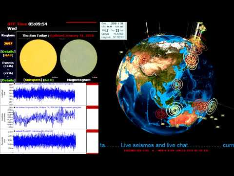 1/30/2018 Earthquake and solar weather update video....