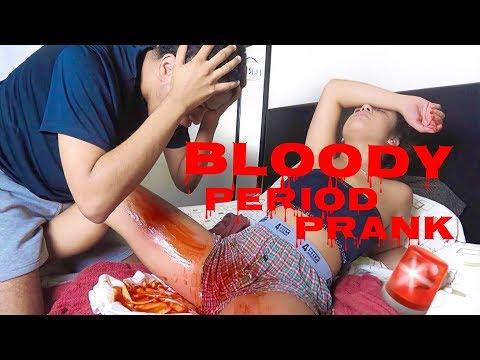 BLOODY PERIOD PRANK ON BOYFRIEND