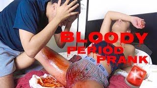 BLOODY PERIOD PRANK ON BOYFRIEND