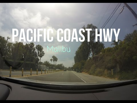 Driving the Pacific Coast Highway Through Malibu