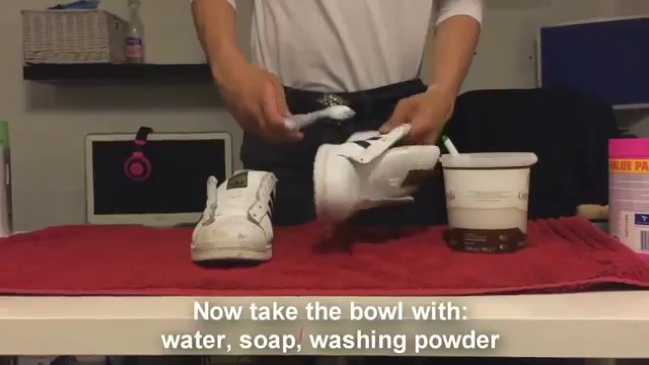 How to clean your white leather shoes youtube - How to clean shoes ...