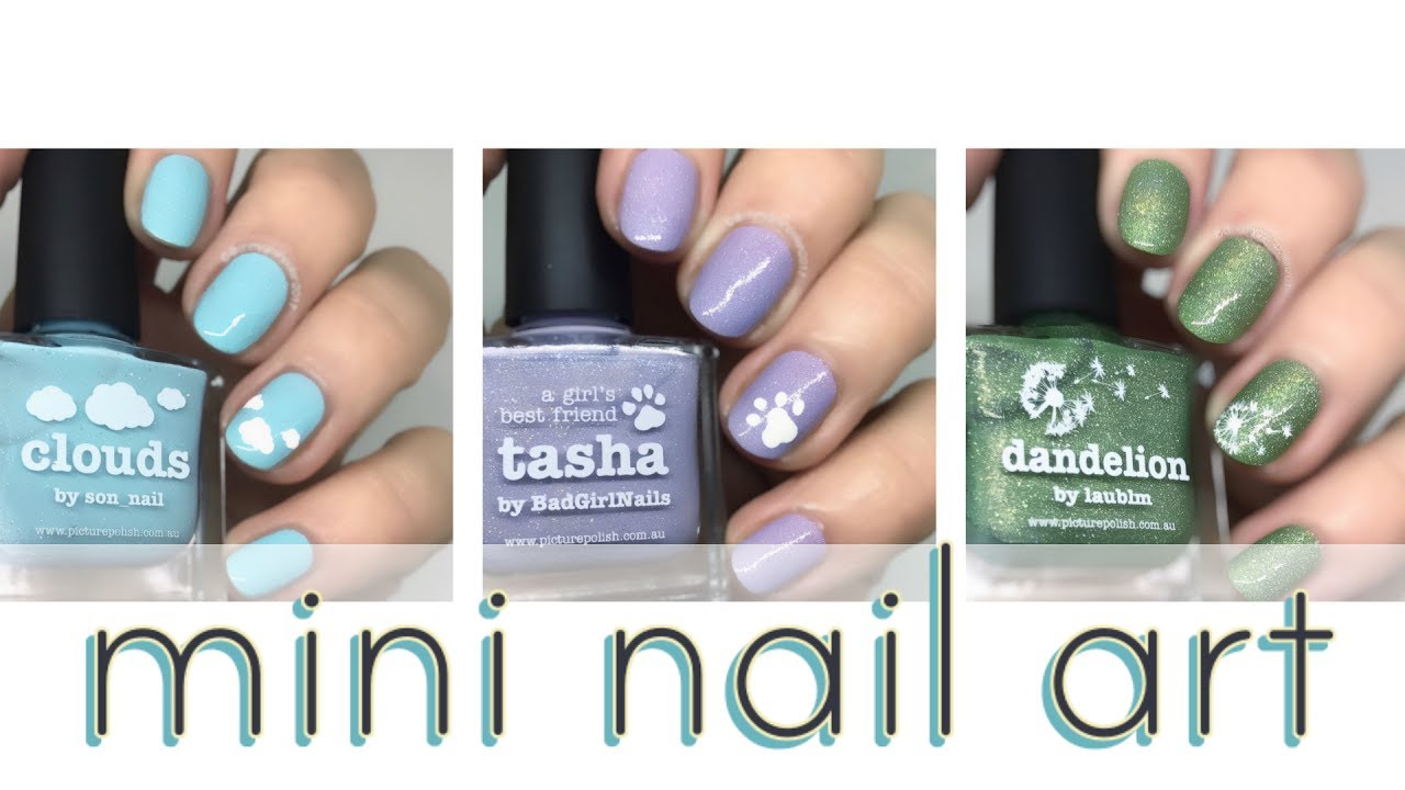 Because Minis Are Cute Mini Nail Art Youtube