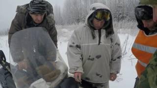Загонная охота на лося зимой