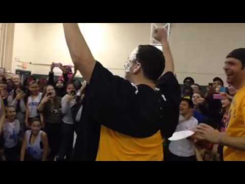 Pie Throwing at Ponus Ridge Middle School