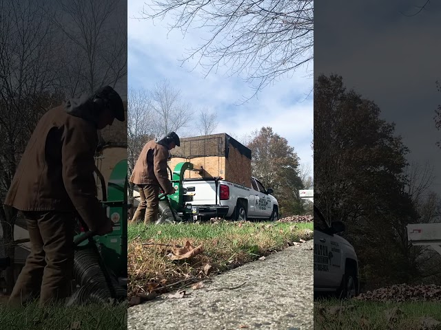 Using The Billy Goat 18 HP Debris Loader For Fall Leaf Cleanups - Chalfont PA