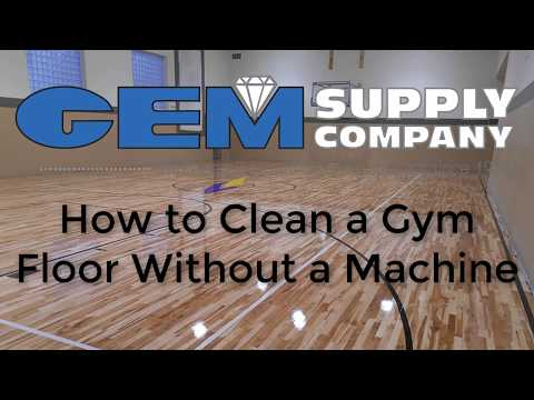How to Clean a Gym Floor Without a Machine