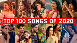 Top 100 Hindi Punjabi Songs of 2020 (Year End Chart 2020) | Popular Bollywood Songs 2020