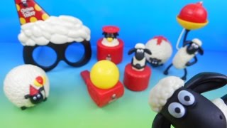 2015 SHAUN THE SHEEP SET OF 8 McDONALD'S HAPPY MEAL KID'S TOY'S VIDEO REVIEW (IMPORT)