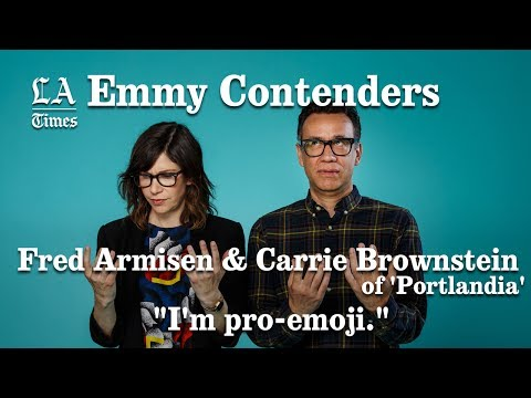 Fred Armisen And Carrie Brownstein Are Pro Emoji | Los Angeles Times