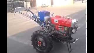 China 18hp walking tractor with electric start, farm implements