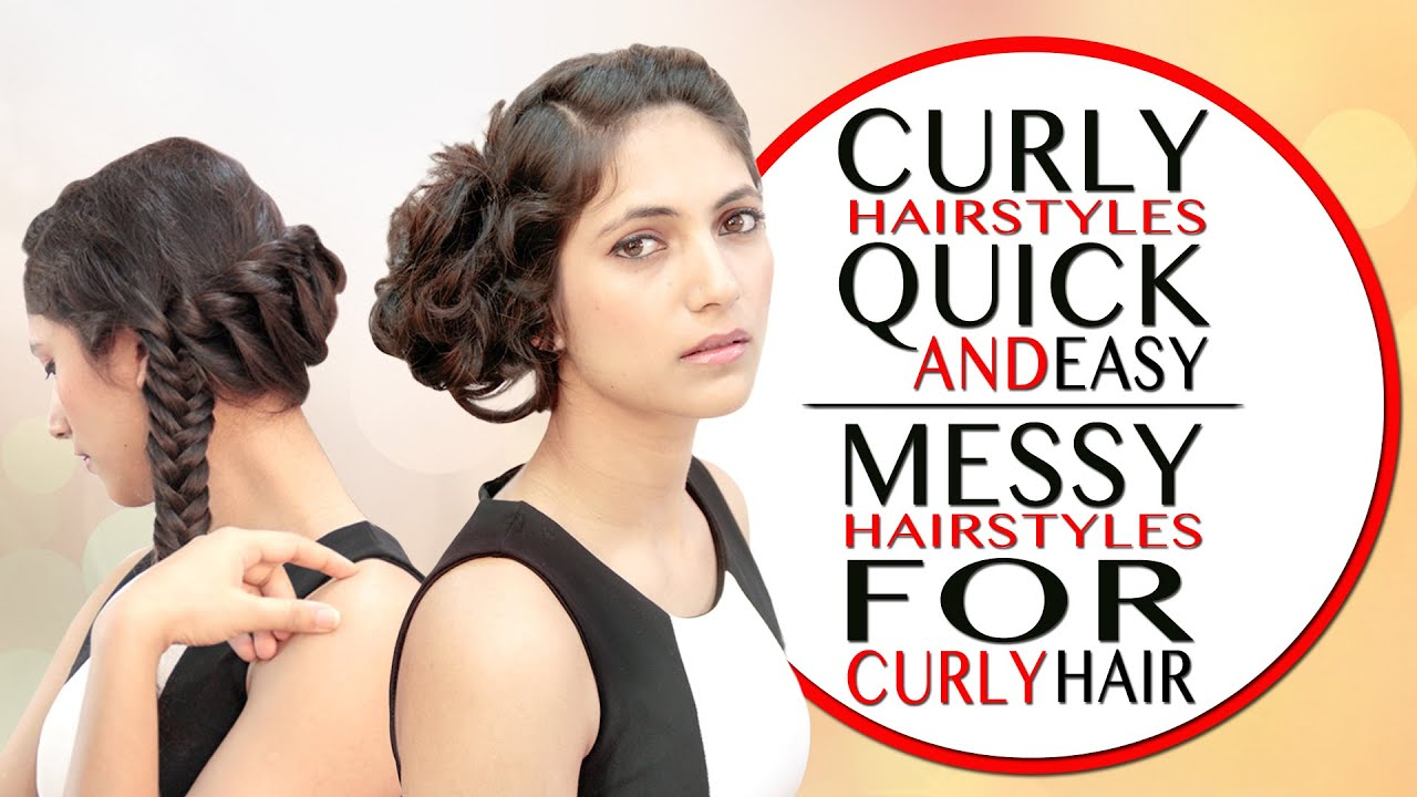 Hairstyles For Curly Hair Diy Khoobsurati Studio Youtube