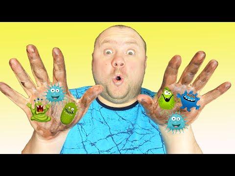 Настя и папа - детская история о том как важно мыть руки