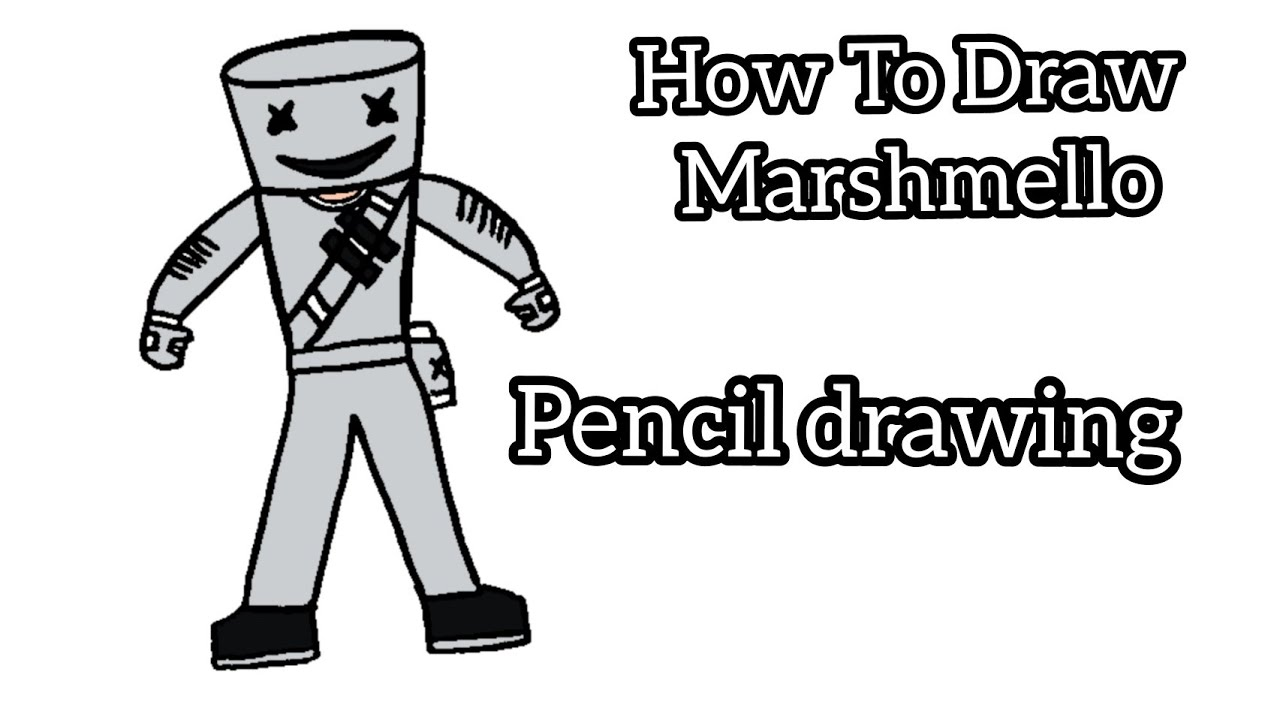 Marshmello | How To Draw Marshmello | Pencil Drawing ...