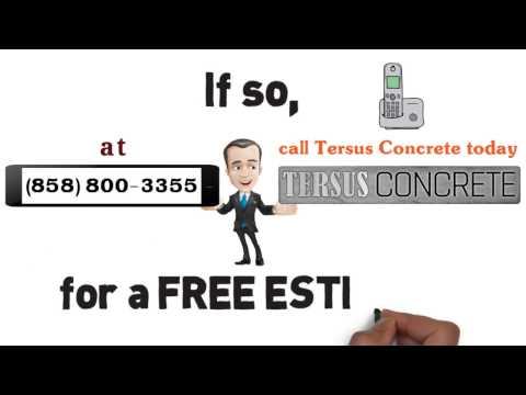 Tersus Concrete Contractor Del Mar, Stamped Concrete Del Mar Ca