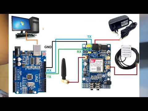 SIM808 GPS / GSM Locator with Arduino